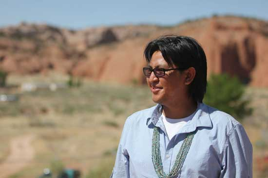 Maurco Ambrose attends Treaty Days, a celebration each year in June at the Navajo Nation in Church Rock, N.M. Ambrose served as an Army cook in Iraq, during 2008 and 2009. After he returned, he found that Blessing Way ceremonies helped direct his life. (Photo by Mauro Whiteman, News21)