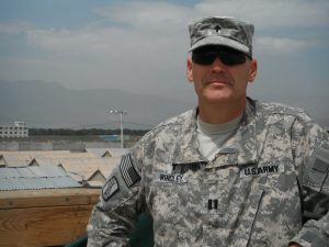 Army Chaplain (Capt.) Doug Windley, shown here in Kandahar, served with the North Carolina National Guard in Kuwait, Afghanistan and Qatar.